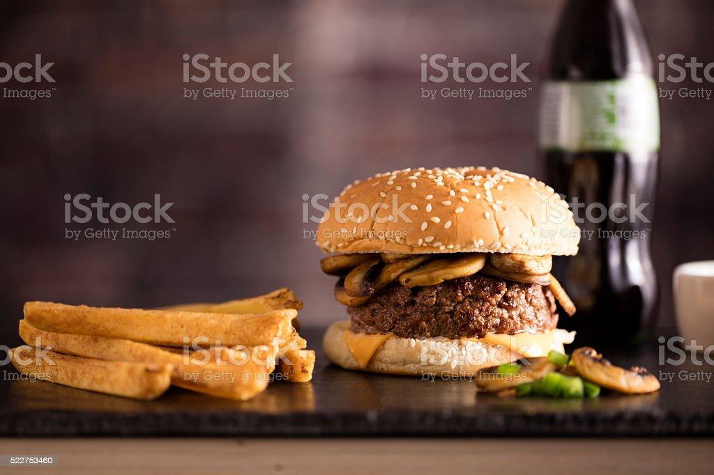 Mushroom Burger stock photo