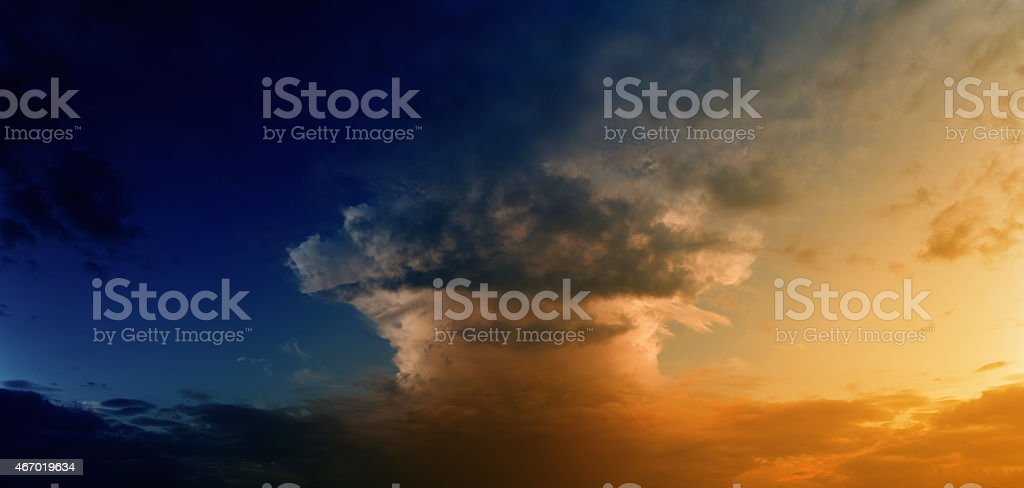 Mushroom cloud stock photo