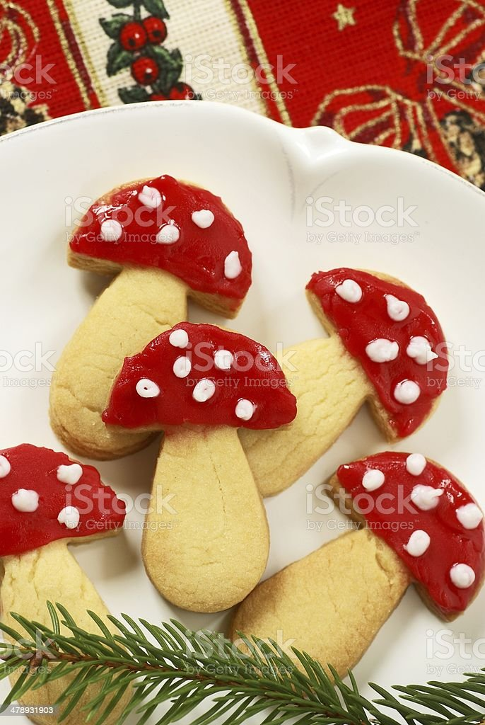Mushroom cookies royalty-free stock photo