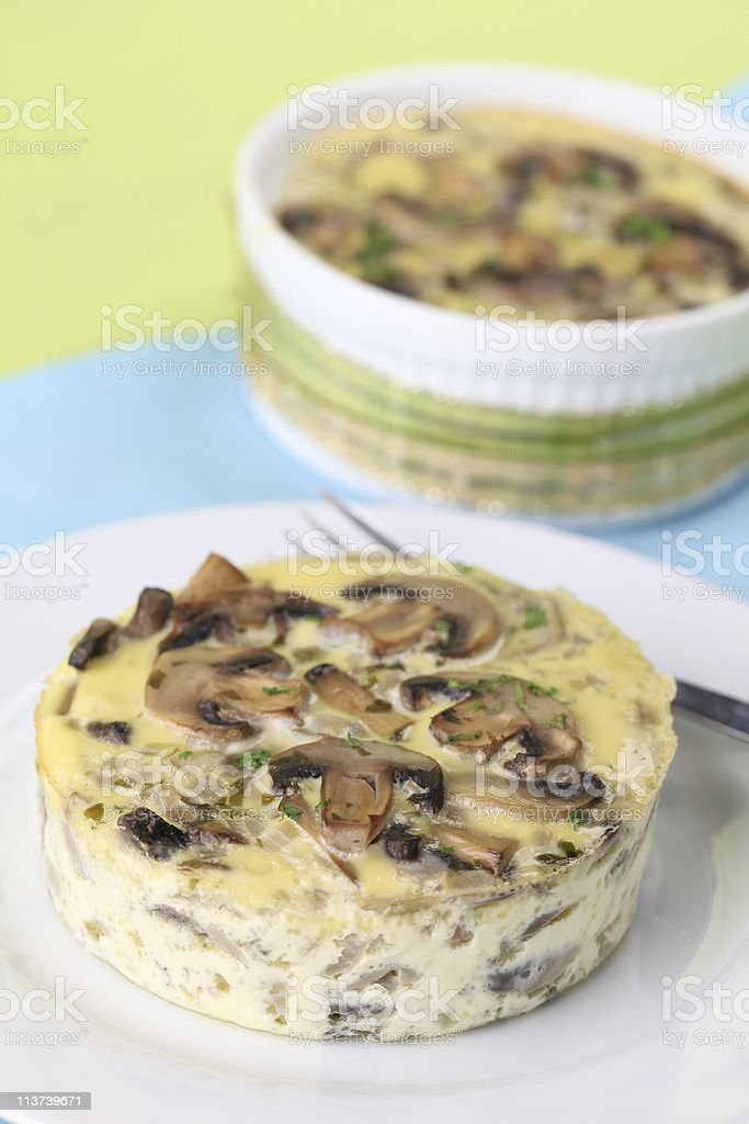 Mushroom gratin royalty-free stock photo