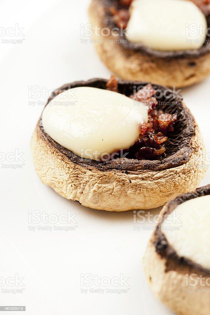 Mushroom gratin with mozzarella royalty-free stock photo