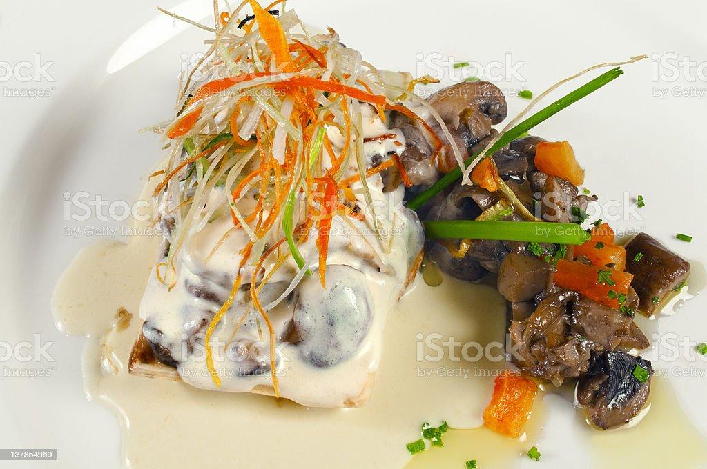 Mushroom lasagna royalty-free stock photo