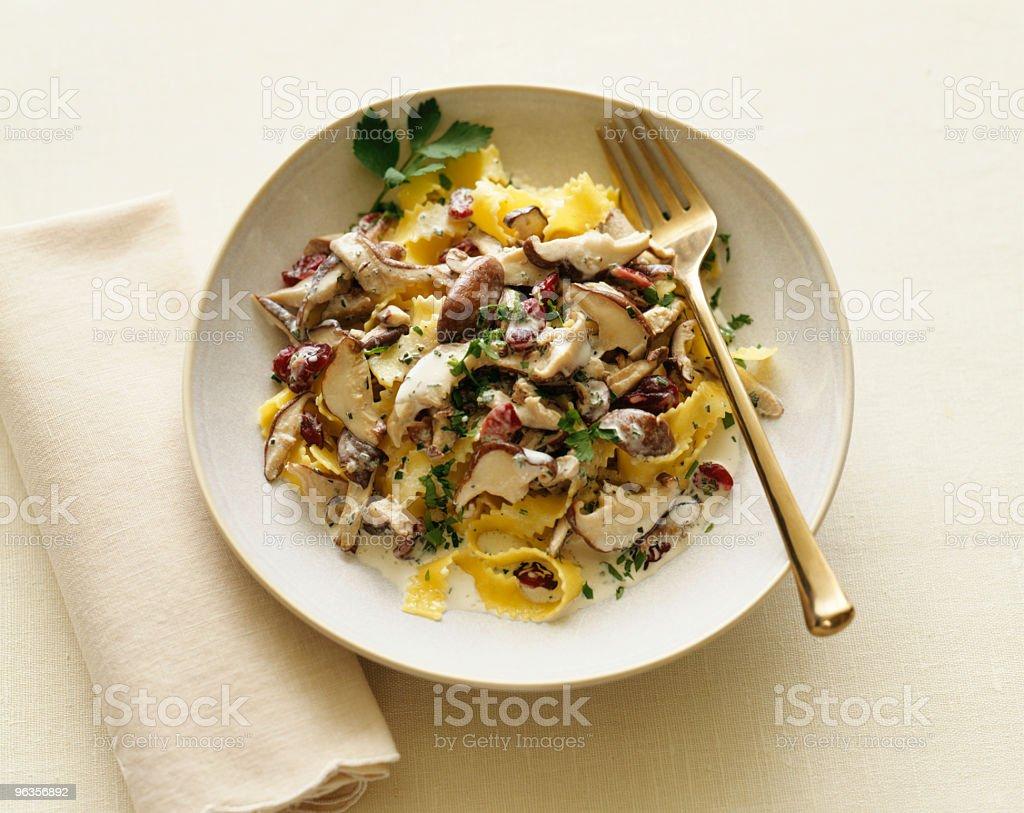 Mushroom pasta stock photo