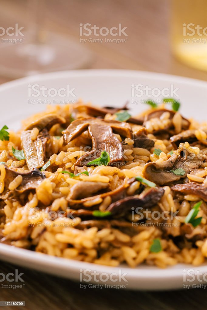 Mushroom Risotto royalty-free stock photo
