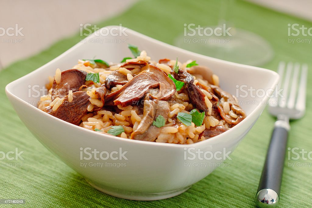 Mushroom Risotto royalty-free stock photo
