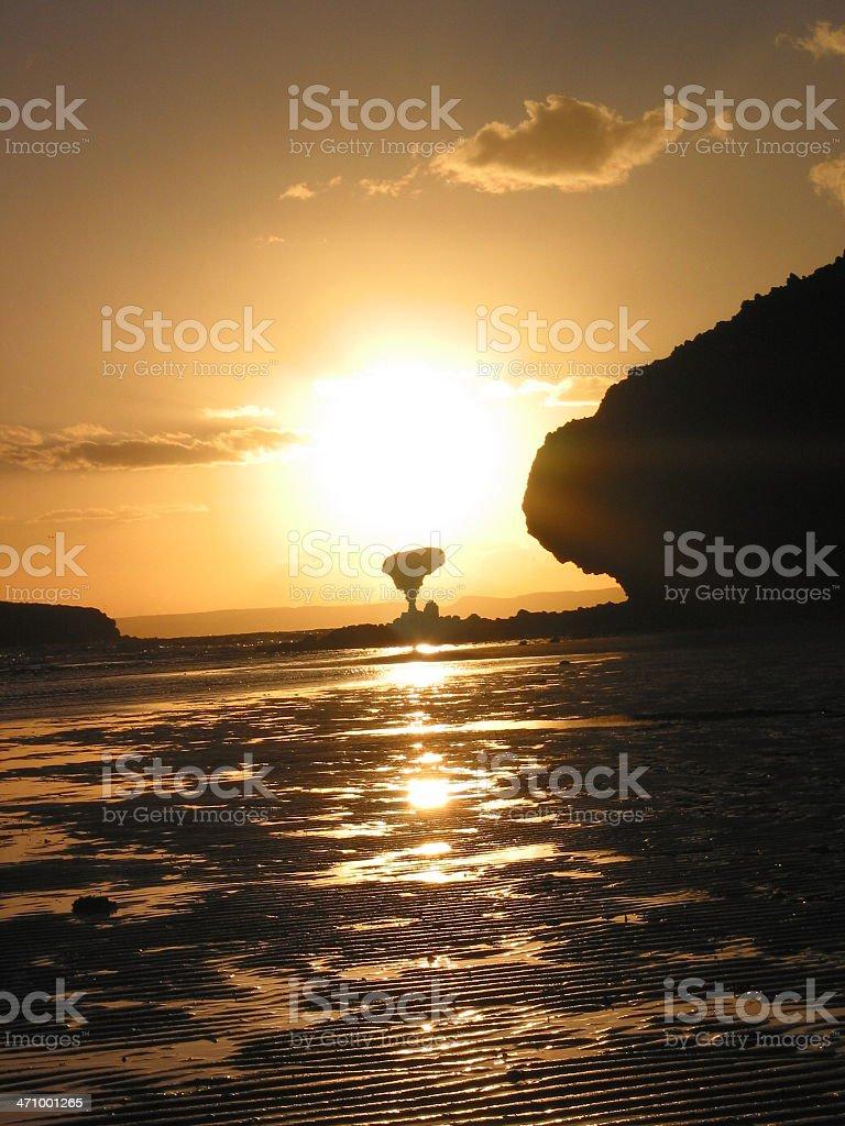 mushroom rock at sunset royalty-free stock photo