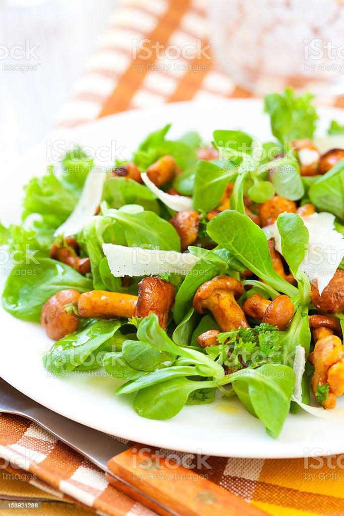mushroom salad royalty-free stock photo