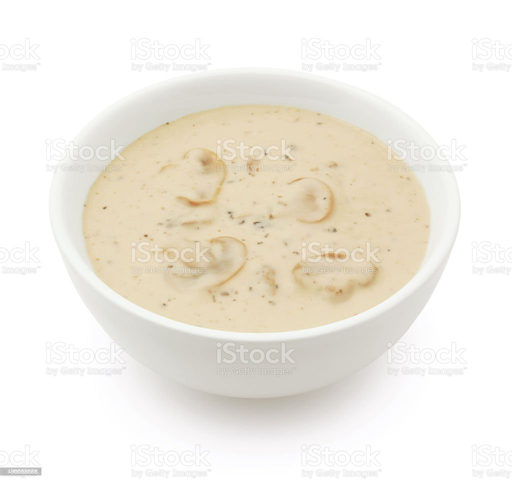 Mushroom Soup (with path) stock photo