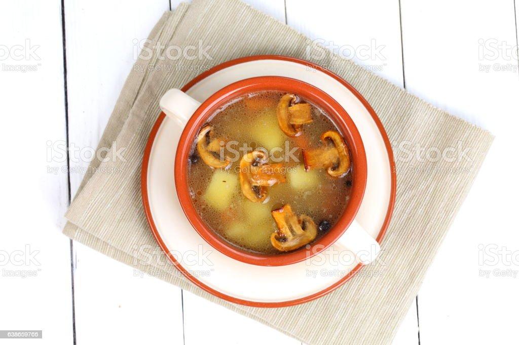 Mushroom soup stock photo