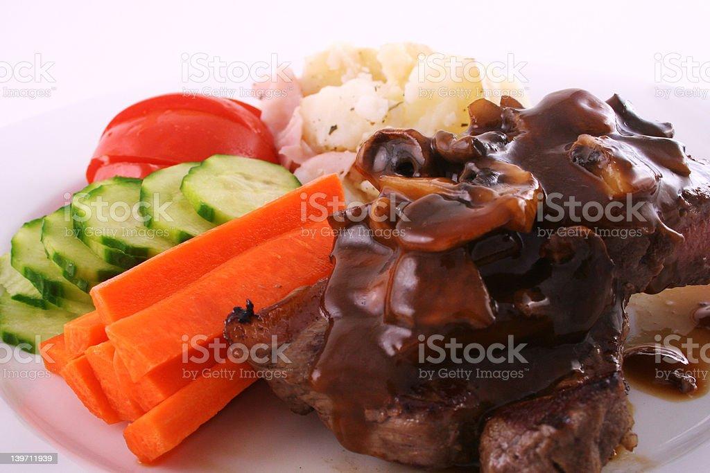 Mushroom steak royalty-free stock photo
