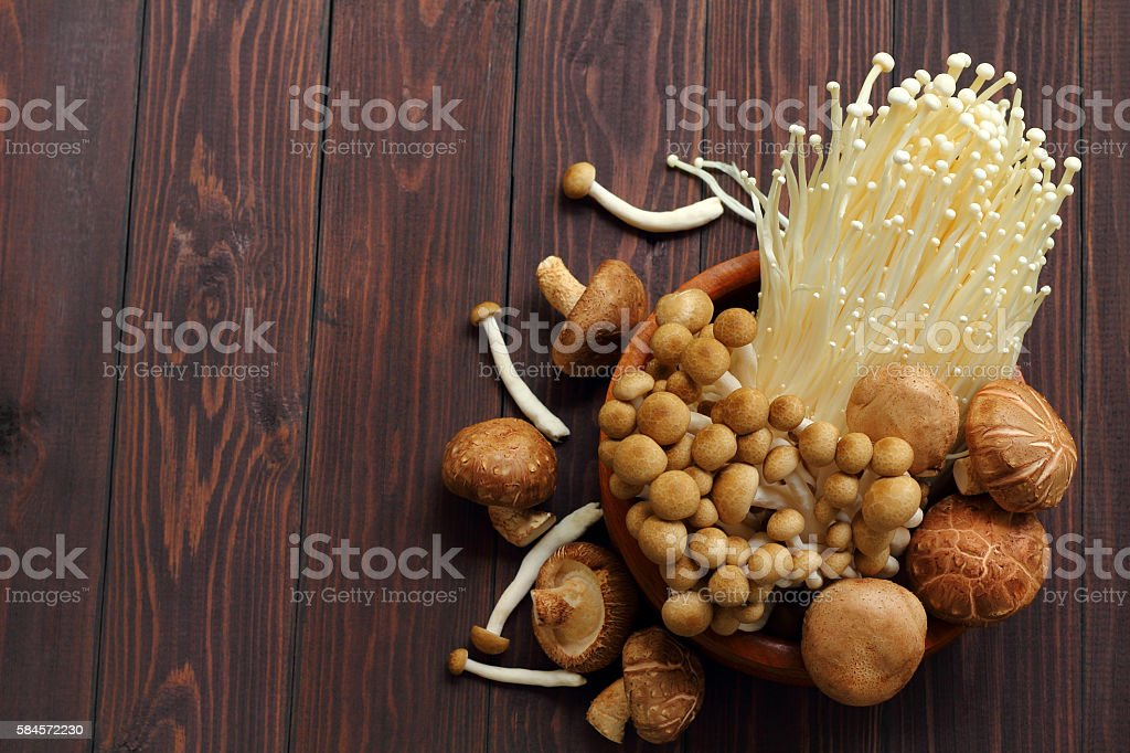 Mushroom three kind  for healthy. stock photo