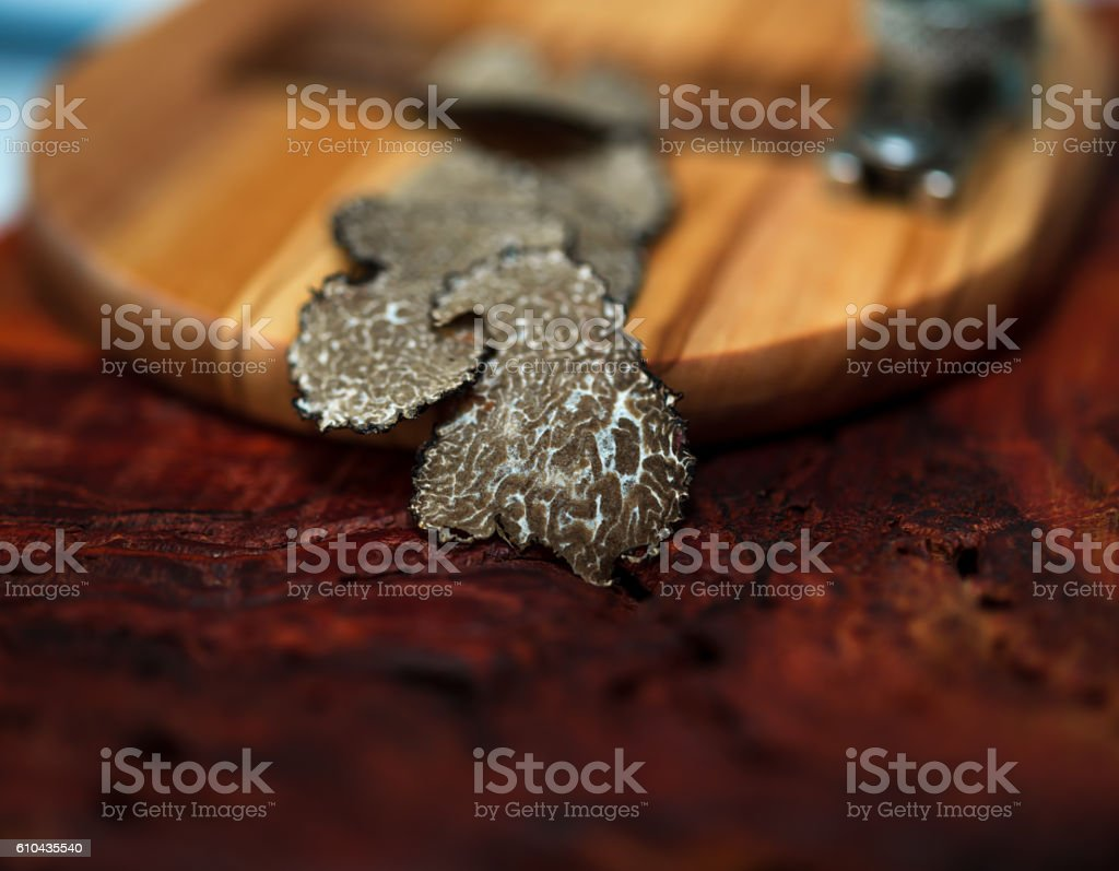 mushroom  truffle and  Truffle Slicer stock photo