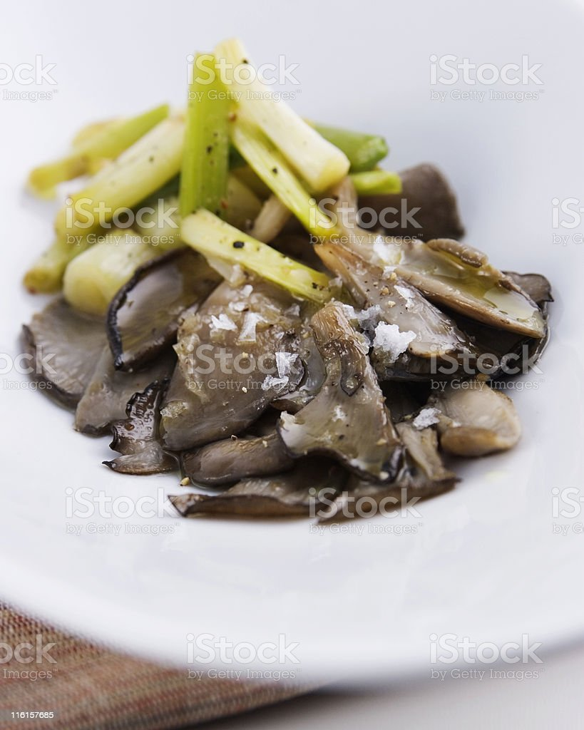Mushrooms and garlics royalty-free stock photo