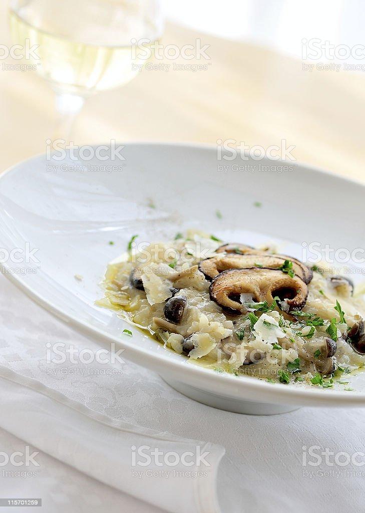 Mushrooms Risotto stock photo