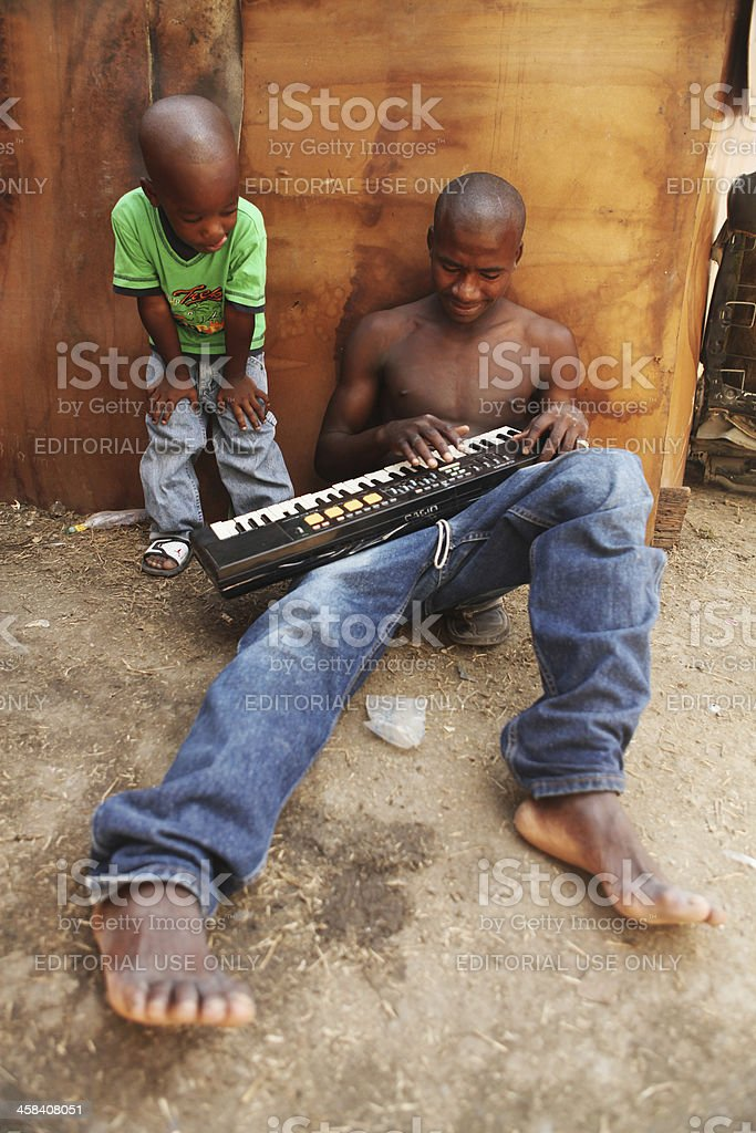 Music after the earthquake, Haiti royalty-free stock photo