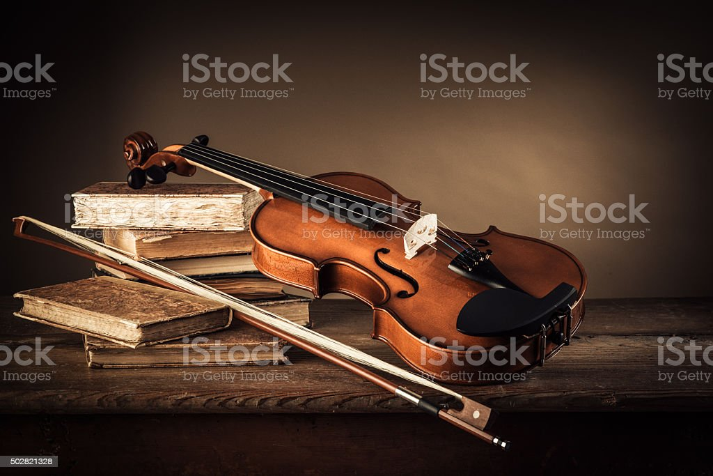 Music and arts still life stock photo