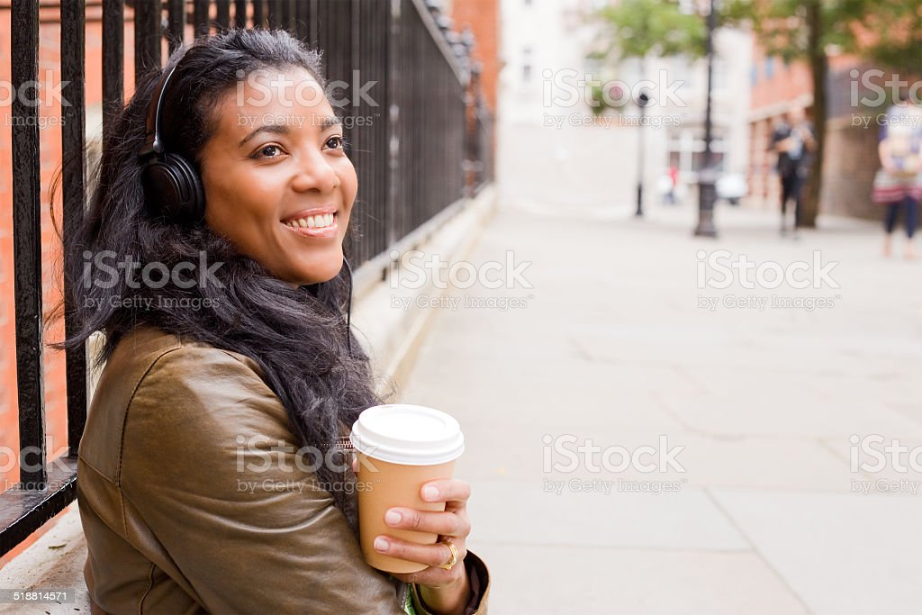 music and coffee royalty-free stock photo