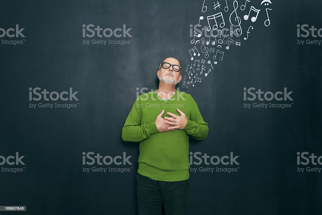 Music and emotions stock photo