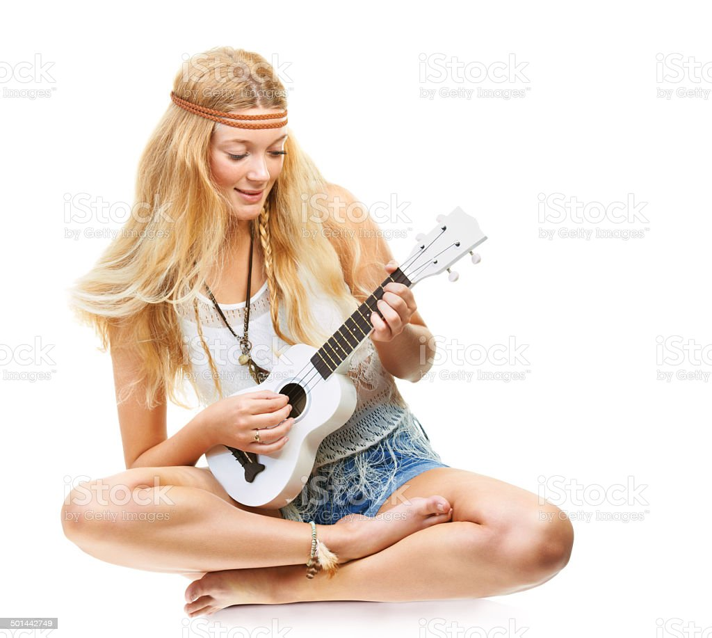 Music and free love royalty-free stock photo