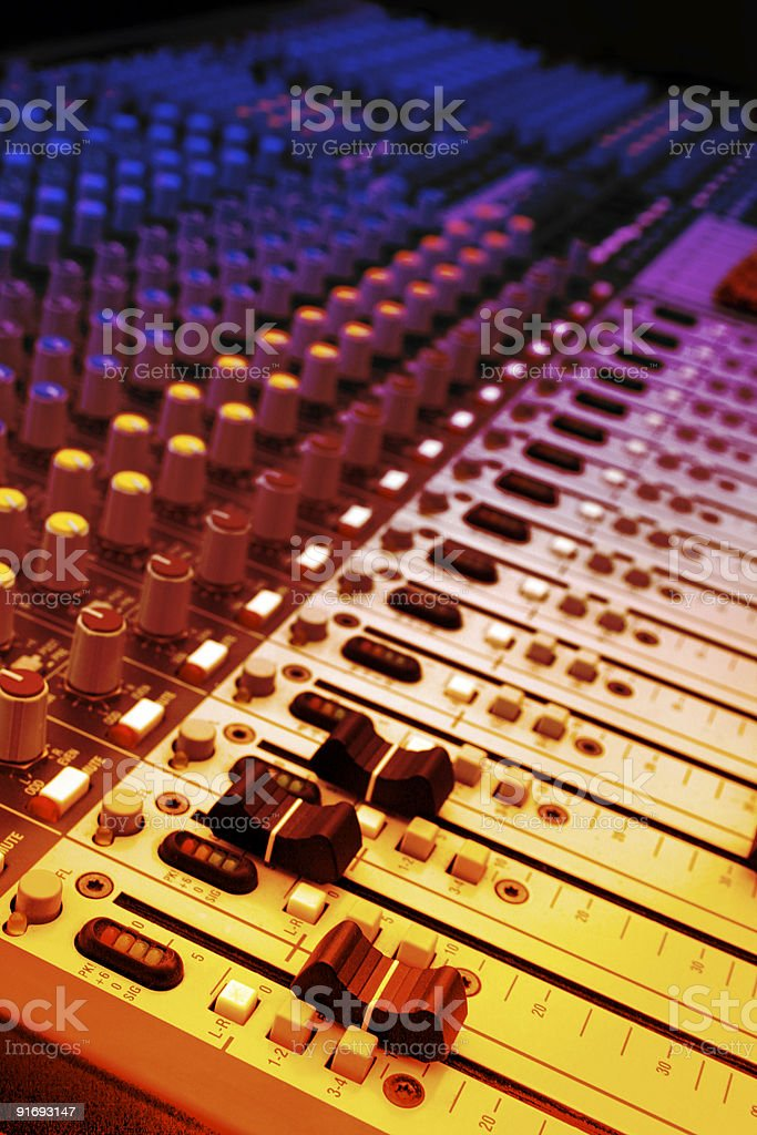Music and mixer royalty-free stock photo