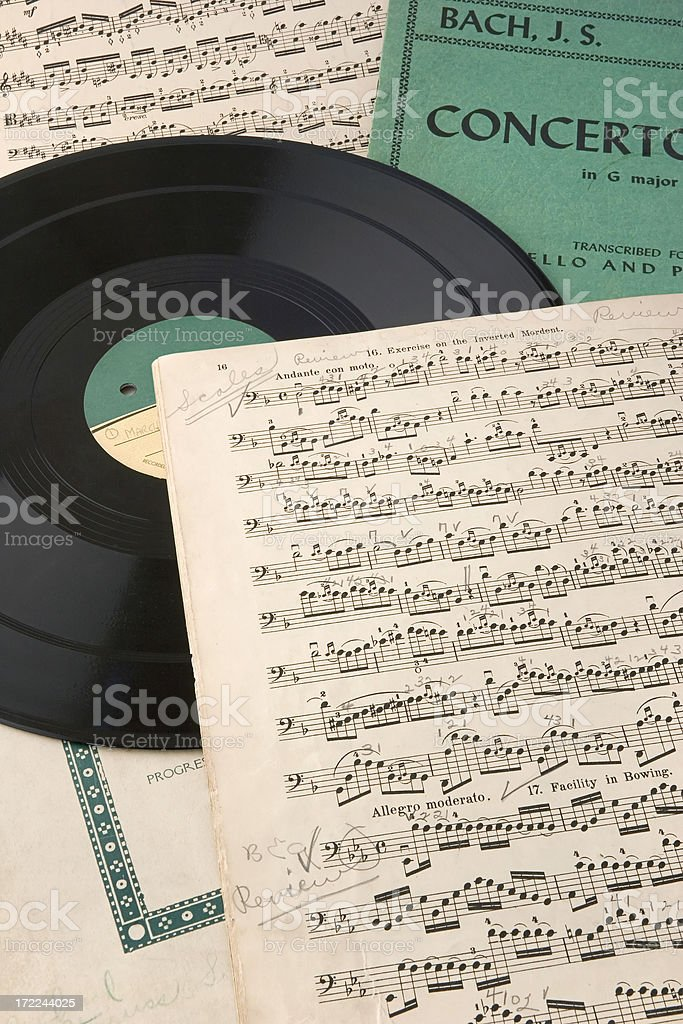Music and Record royalty-free stock photo