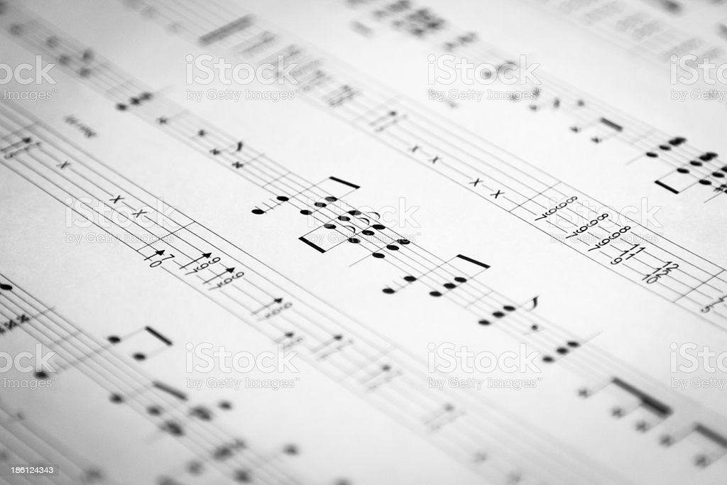 Music and tab royalty-free stock photo