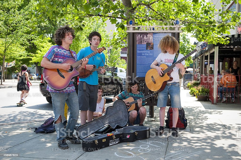 Music and the arts in Asheville, North Carolina stock photo