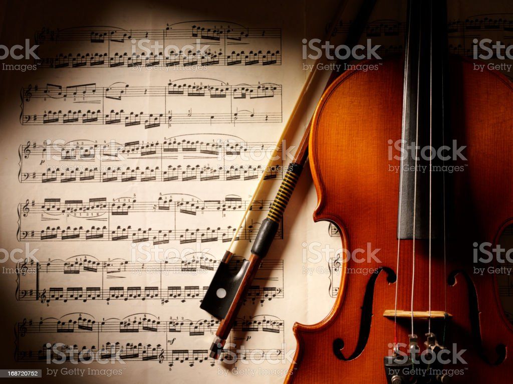 Music and Violin stock photo