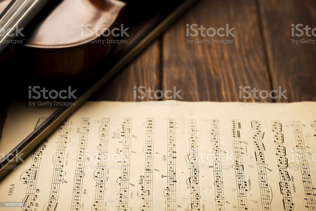 Music and Violin royalty-free stock photo