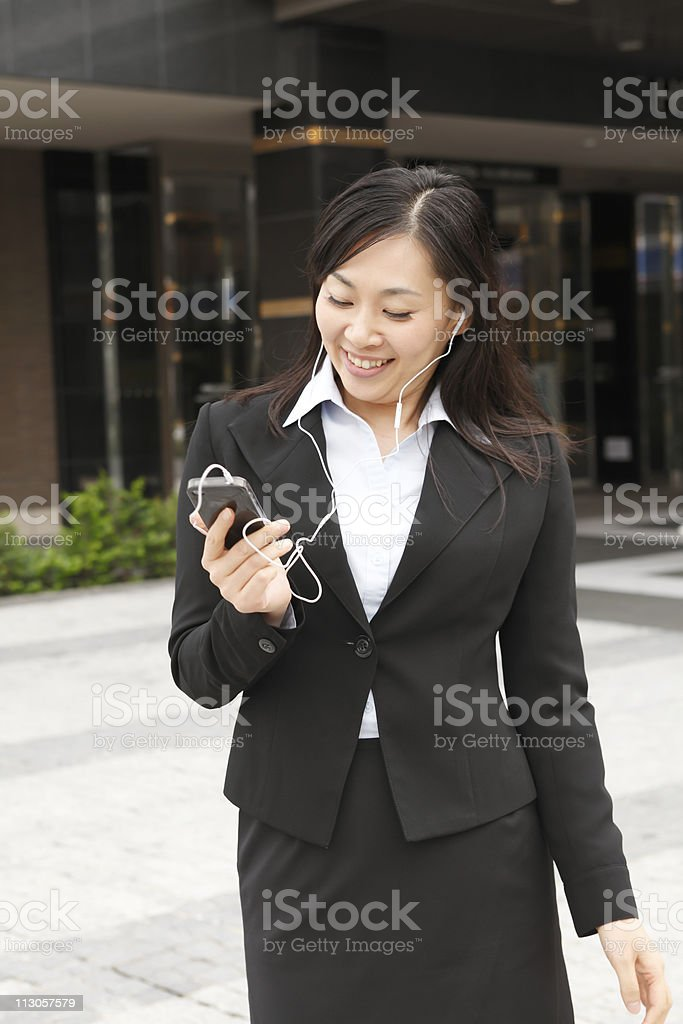 Music and woman royalty-free stock photo