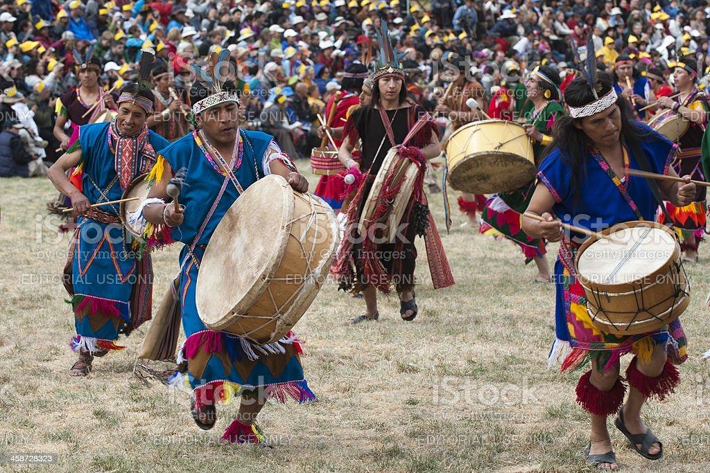Music at İnti Raymi 2012 stock photo