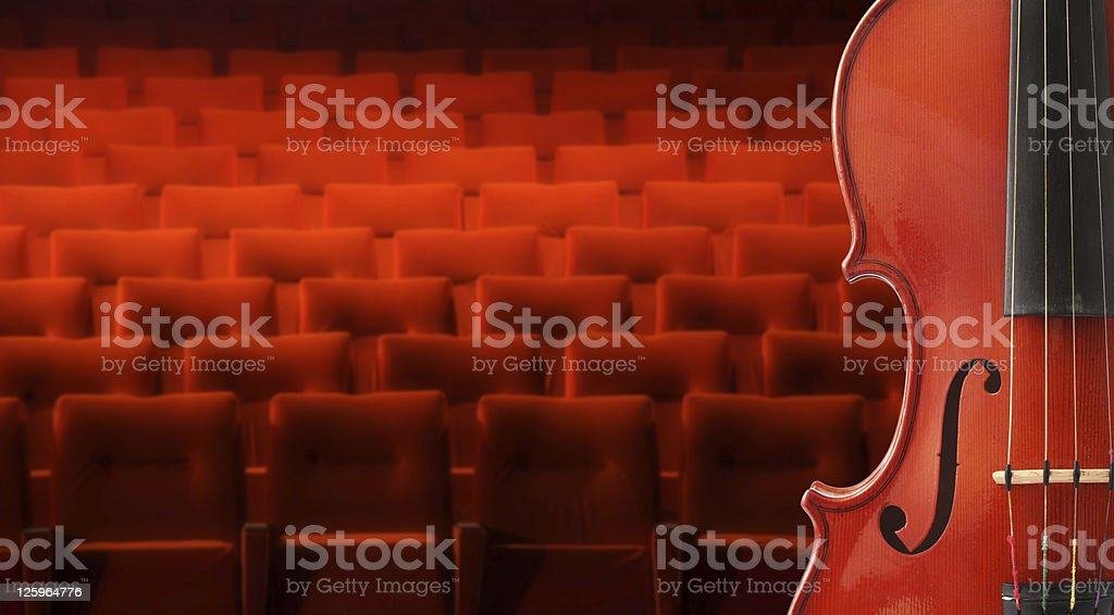 Music background with violin stock photo