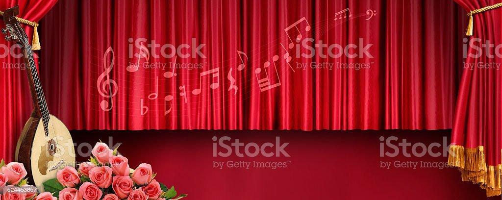 Music banner stock photo