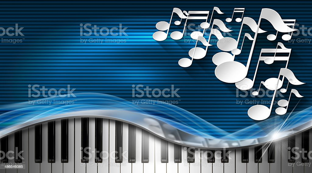 Music Blue and Metal Business Card stock photo