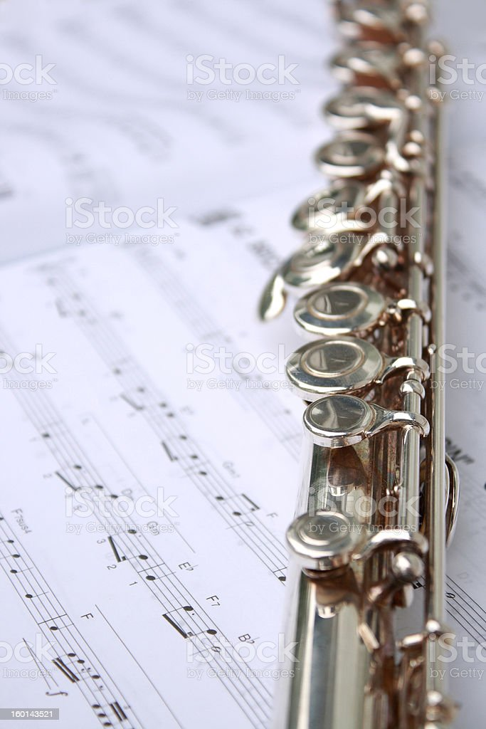 music book and flute royalty-free stock photo