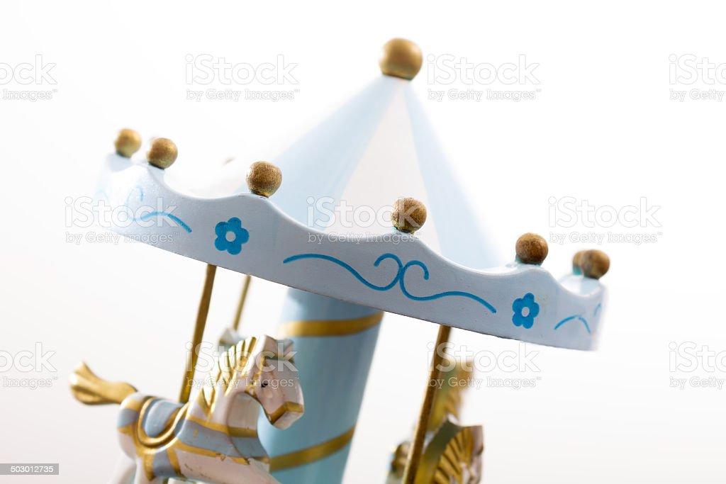 Music box carousel stock photo