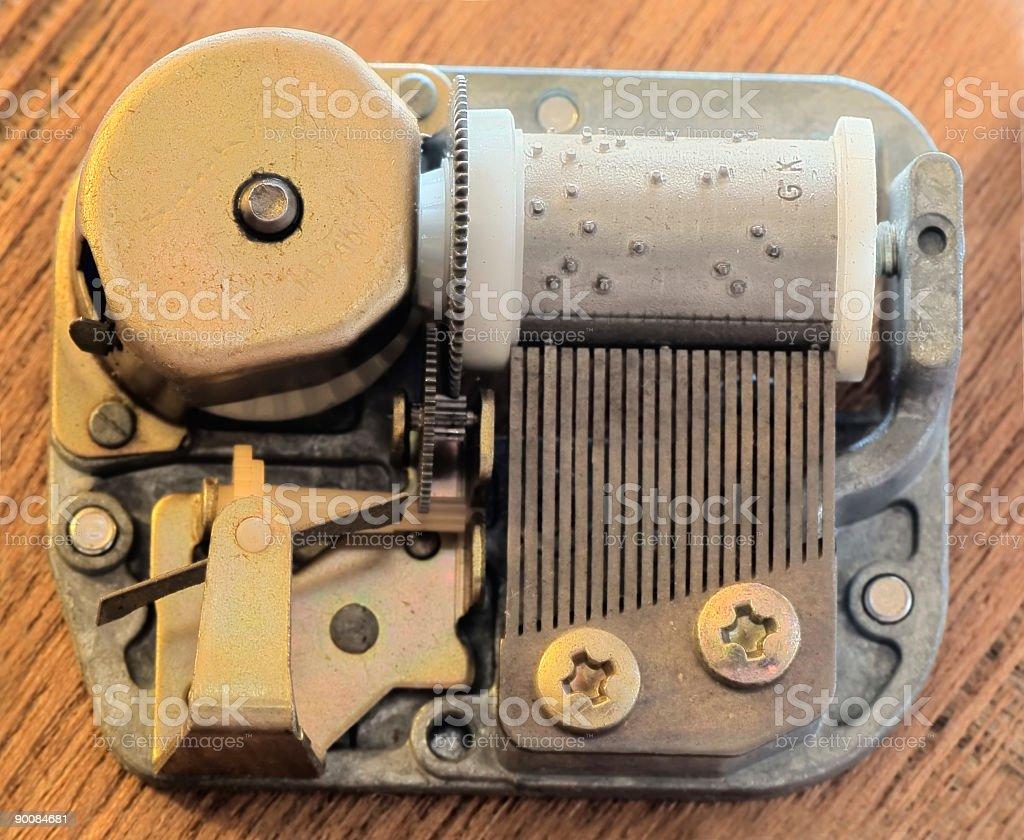 Music box Mechanism (Clip Path) royalty-free stock photo