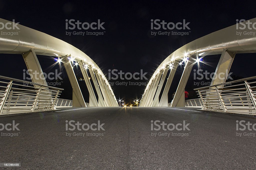 Music Bridge - Rome stock photo