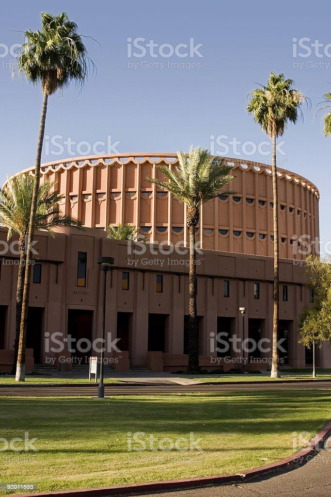 Music Building - Arizone State University stock photo