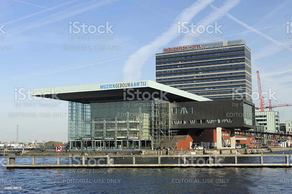 Music Building on the IJ in Amsterdam stock photo