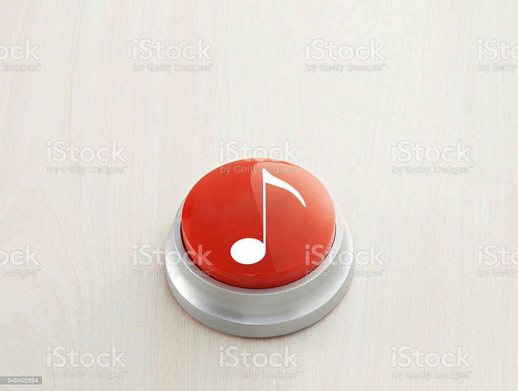 Music Button stock photo