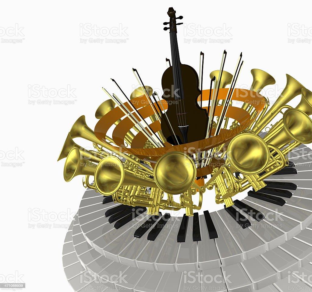 music circle violin royalty-free stock photo