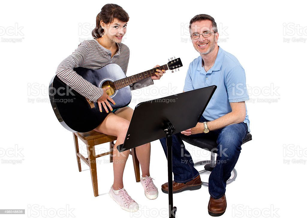 Music Classes with Guitar stock photo