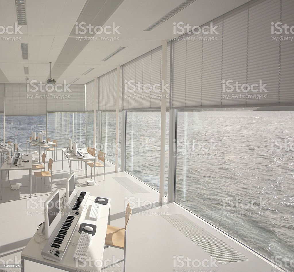 Music classroom royalty-free stock photo