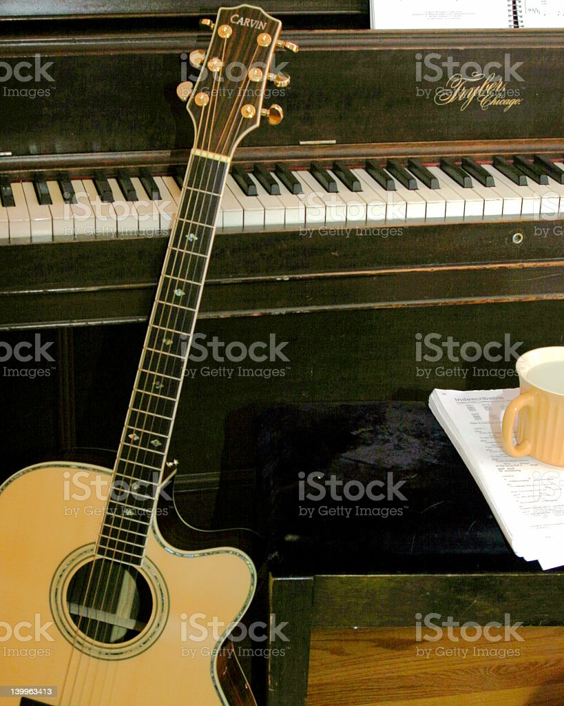 Music / Coffee time royalty-free stock photo