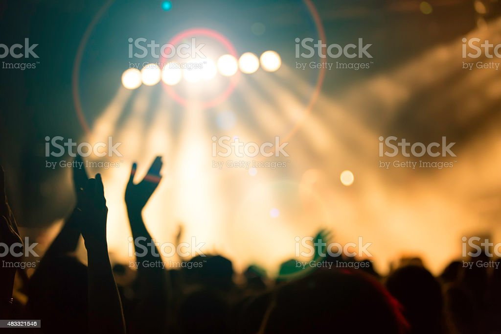 music concert stock photo