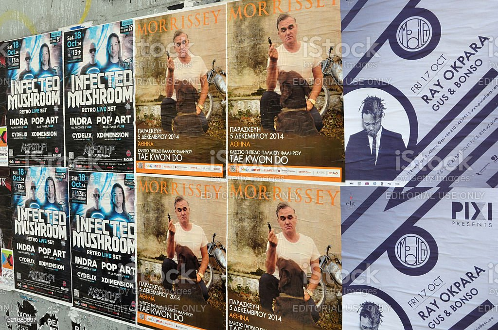 music concert posters stock photo