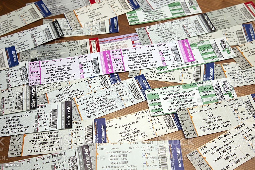 Music Concert Show Event Tickets stock photo