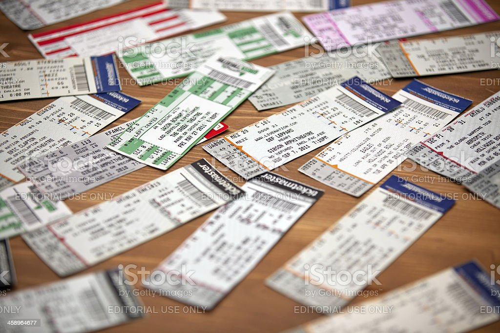 Music Concert Show Event Tickets royalty-free stock photo