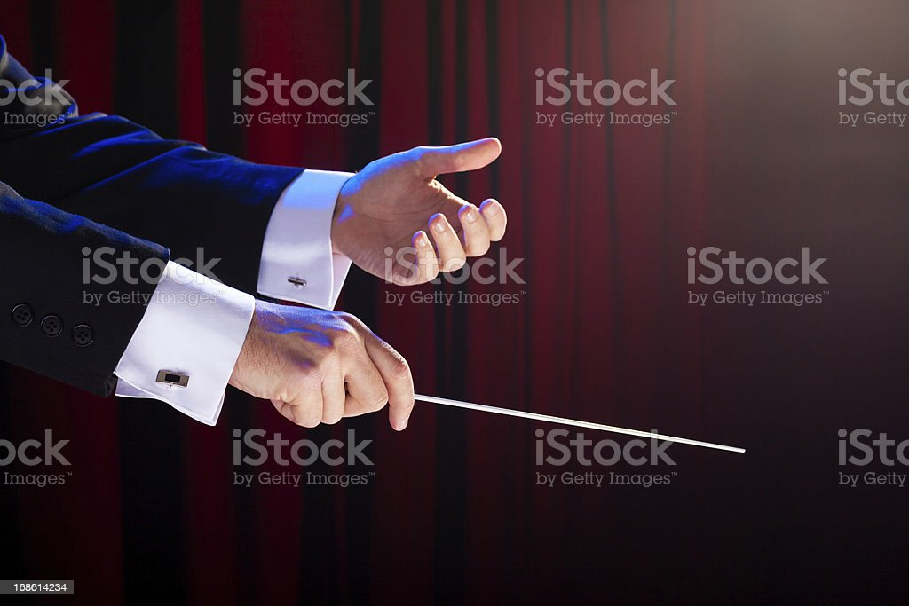 Music Conductor royalty-free stock photo